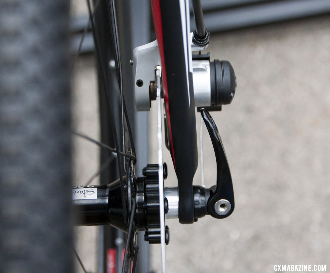 Front disc brake profile on the fork of the 2013 BH Bikes RX Team Disc carbon cyclocross bike. © Cyclocross Magazine