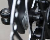 The dropout inserts for disc brakes set the rear spacing at 135mm on the 2013 BH Bikes RX Team Disc carbon cyclocross bike. © Cyclocross Magazine