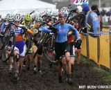 The Elite Women make their way through the mud. © Bart Hazen / Cyclocross Magazine