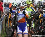 Sabrina Stultiens (Rabobank Liv/Giant) towards the front of the race through the mud. © Bart Hazen / Cyclocross Magazine