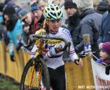 Nikki Harris (Young Telenet-Fidea) finished in third place. © Bart Hazen / Cyclocross Magazine