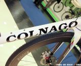 A monocoque front end is mated to a lugged rear triangle. Formula/Colnago carbon disc wheels keep you rolling.