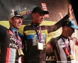 Powers, Nys and Kabush on the podium at Cross Vegas 2013. © Nathan Hofferber / Cyclocross Magazine