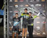 The Elite Men's series leaders (L-R): Ben Berden (Raleigh-Clement), 2nd; Ryan Trebon (Canondale/Cyclocrossworld), 1st; Tim Johnson (Canondale/Cyclocrossworld), 3rd. © Kenneth Hill