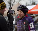 Andrea Wilson talks with Cycling Dirt.   ©Brian Nelson