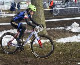 Antonneau had all the latest - disc brakes and funny helmet. They didn't slow her down though.  © Cyclocross Magazine