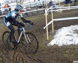 Kimbery Flynn of UNC gave chase to Antonneau.  © Cyclocross Magazine