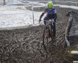 Antonneau had a huge gap in her title-winning warm up for the Elite race.  © Cyclocross Magazine