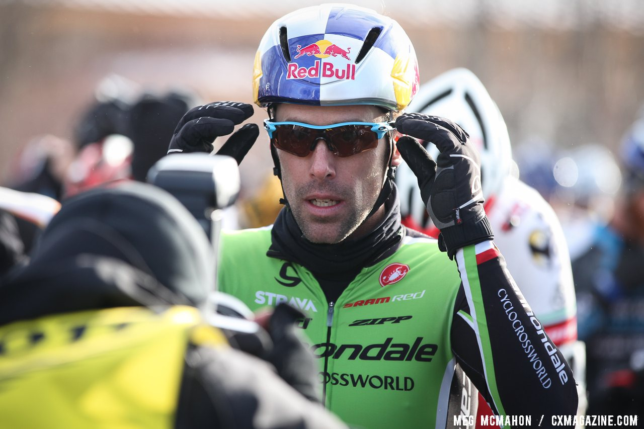 Tim Johnson was happy to hear Page took the win at 2013 Cyclocross National Championships.© Meg McMahon
