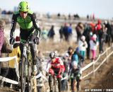 Ryan Trebon leads the group up one of the first hills on the 2013 Cyclocross National Championship course.© Meg McMahon