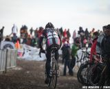 A lonely ride for defending champ Jeremy Powers (Rapha Focus). Elite Men, 2013 Cyclocross National Championships.© Meg McMahon