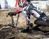 The mud wreaked havoc on racers and equipment. Junior Men 17-18, 2013 Cyclocross National Championship. © Meg McMahon
