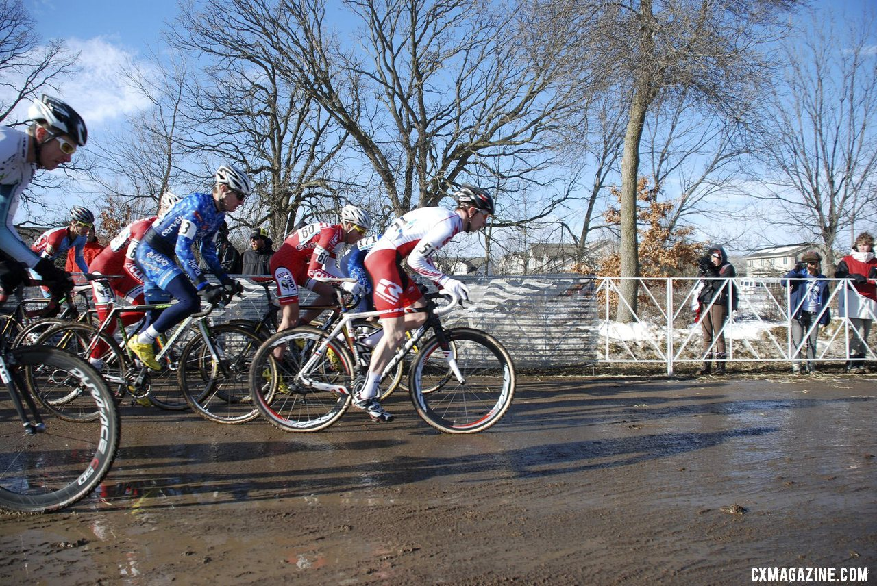 Owen led wire to wire. A pile-up happened shortly after the start.  © Cyclocross Magazine