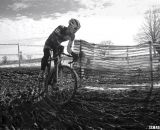 Peter Goguen battling for third place. Junior 17-18 men, 2013 Cyclocross National Championships. © Cyclocross Magazine