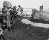 Junior Women's fields weren't huge, but the racing was as serious as with any group. © Cyclocross Magazine
