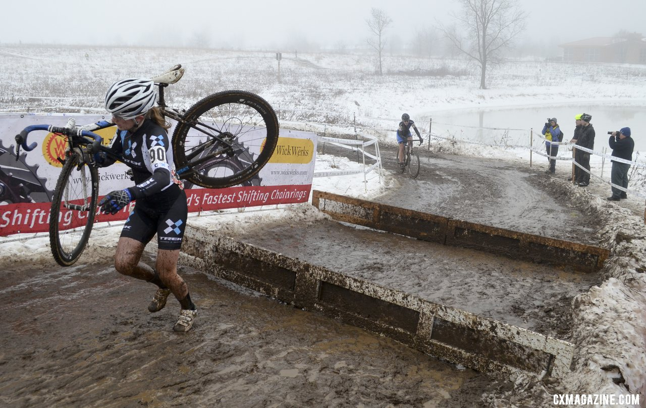 Ellen Noble with a 10 second gap on lap 1. © Cyclocross Magazine
