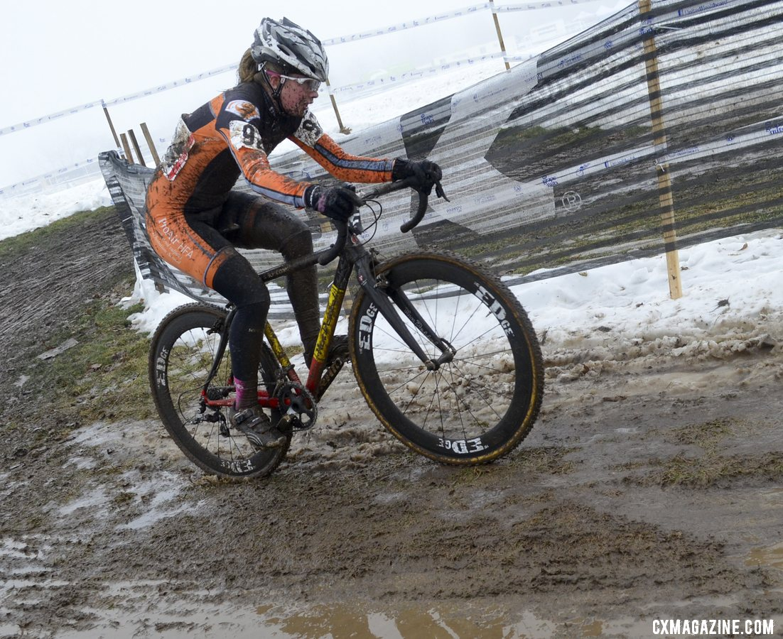 Bailey Semian had a strong ride to finish fourth. © Cyclocross Magazine