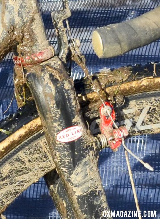 A Cane Creek 110 headset is a perfect compliment for the Conquest Conquest Pro SS Singlespeed colors. © Cyclocross Magazine