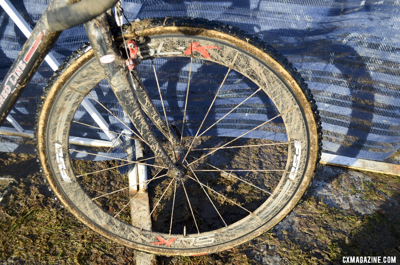 Studley Conquest is equipped with matching wide profile Kore Race + canti\'s . © Cyclocross Magazine