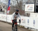 Frederic Schmid with time to celebrate his 70+ win. 2013 Cyclocross National Championships. ©Cyclocross Magazine