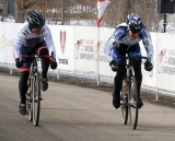 Pizzini pipping Rollins for the 65-69 win. 2013 Cyclocross National Championships. ©Cyclocross Magazine
