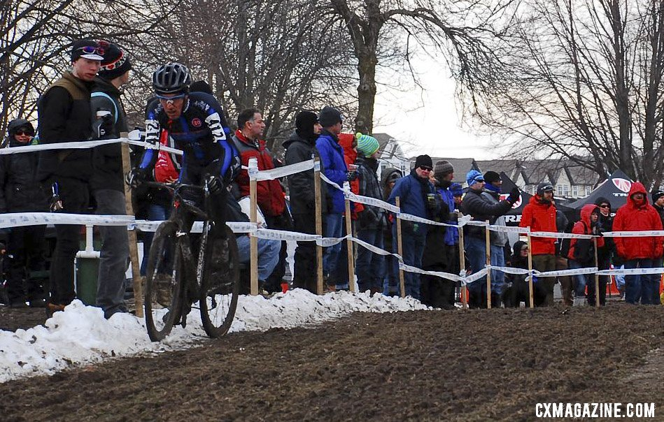 Stephen Cummings got creative to find fast lines. Masters 30-34. 2013 Cyclocross National Championships. © Cyclocross Magazine