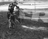 Stevenson used any method to stay upright in the turns. Masters 35-39. .© Cyclocross Magazine