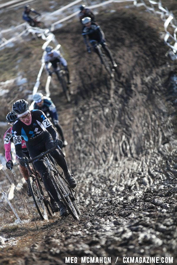 Jay Thomas finished 22nd, but was the 2nd Cat 2 racer for bragging rights.  © Cyclocross Magazine