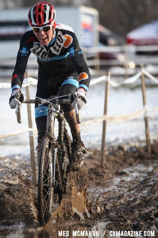 Aaron Bouplon raced to 16th. Masters Men 40-44, 2013 Cyclocross Nationals.  © Meg McMahon