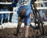 Webber running away from the field. Masters Men 40-44, 2013 Cyclocross Nationals.  © Meg McMahon
