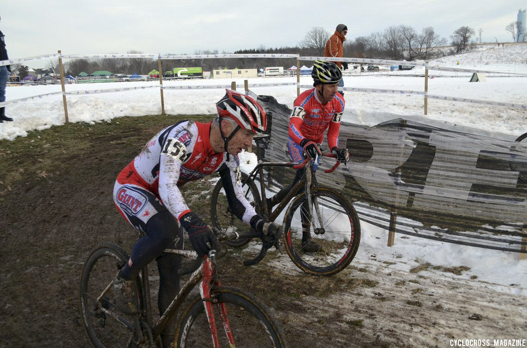 Norm Kreiss and Randy Shields give chase. ©Cyclocross Magazine