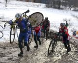 Defending champ Curley took an ealry lead. Masters 55-59, 2013 Cyclocross National Championships. ©Cyclocross Magazine