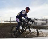 Henry Kramer in the lead. Masters 55-59, 2013 Cyclocross National Championships. ©Cyclocross Magazine
