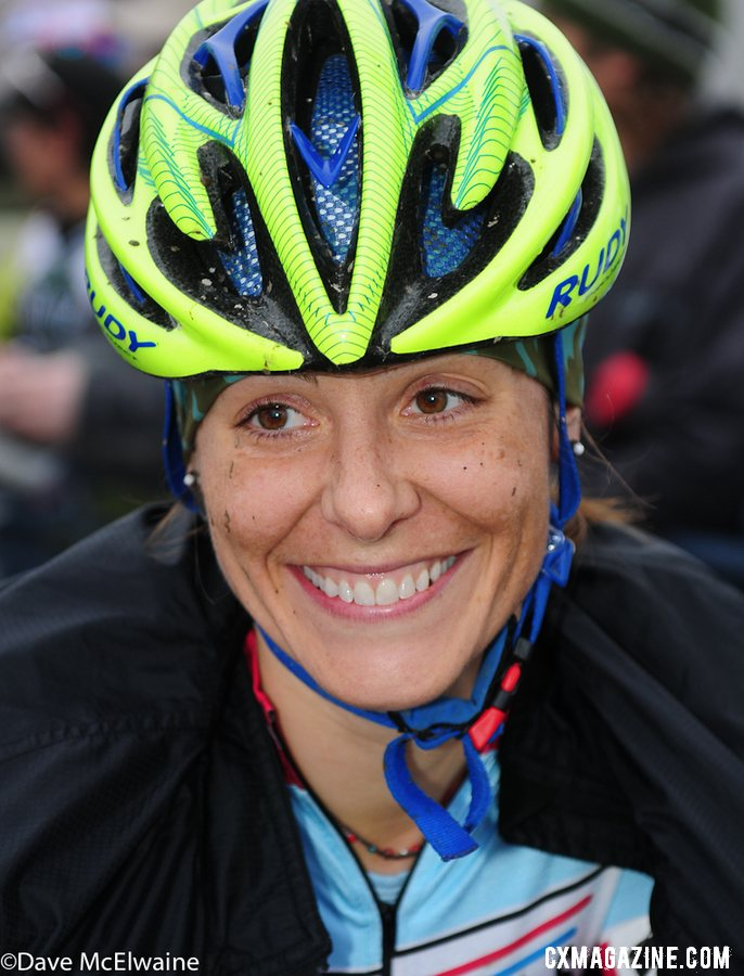 All smiles until the pain and mud hit. Masters Women 30-34. 2013 Cyclocross Nationals. © Dave McElwaine