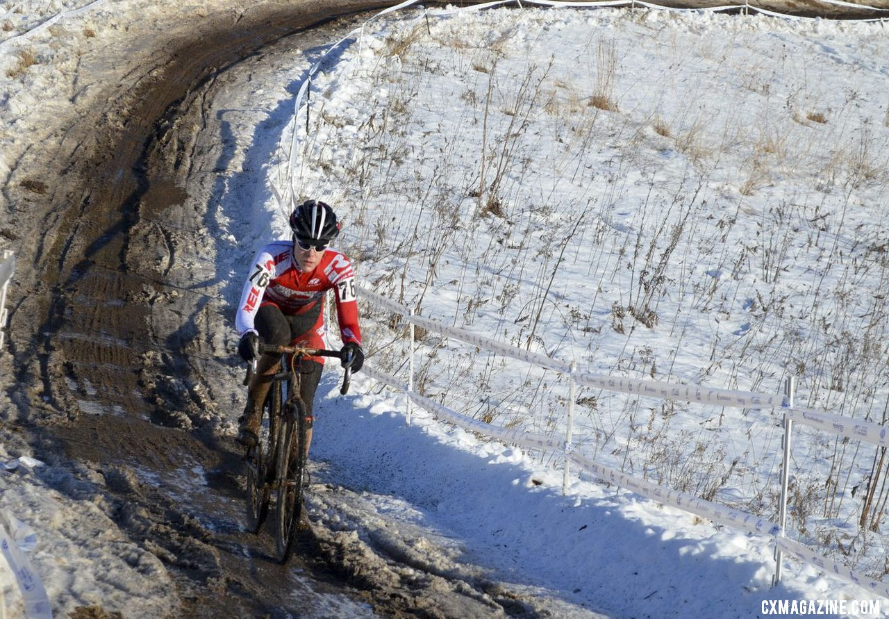 Redline\'s Kari Studley in control in her title defense. Singlespeed Women. © Cyclocross Magazine