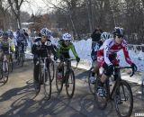 Studley leads the small field of 16 Singlespeed Women. © Cyclocross Magazine