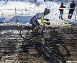 Kristal Boni from Colorado navigates the mud. Singlespeed Women. © Cyclocross Magazine