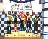 2013 Singlespeed Women's podium: Studley, Noble, Markey, Dowidchuk, and Sherrill. © Cyclocross Magazine
