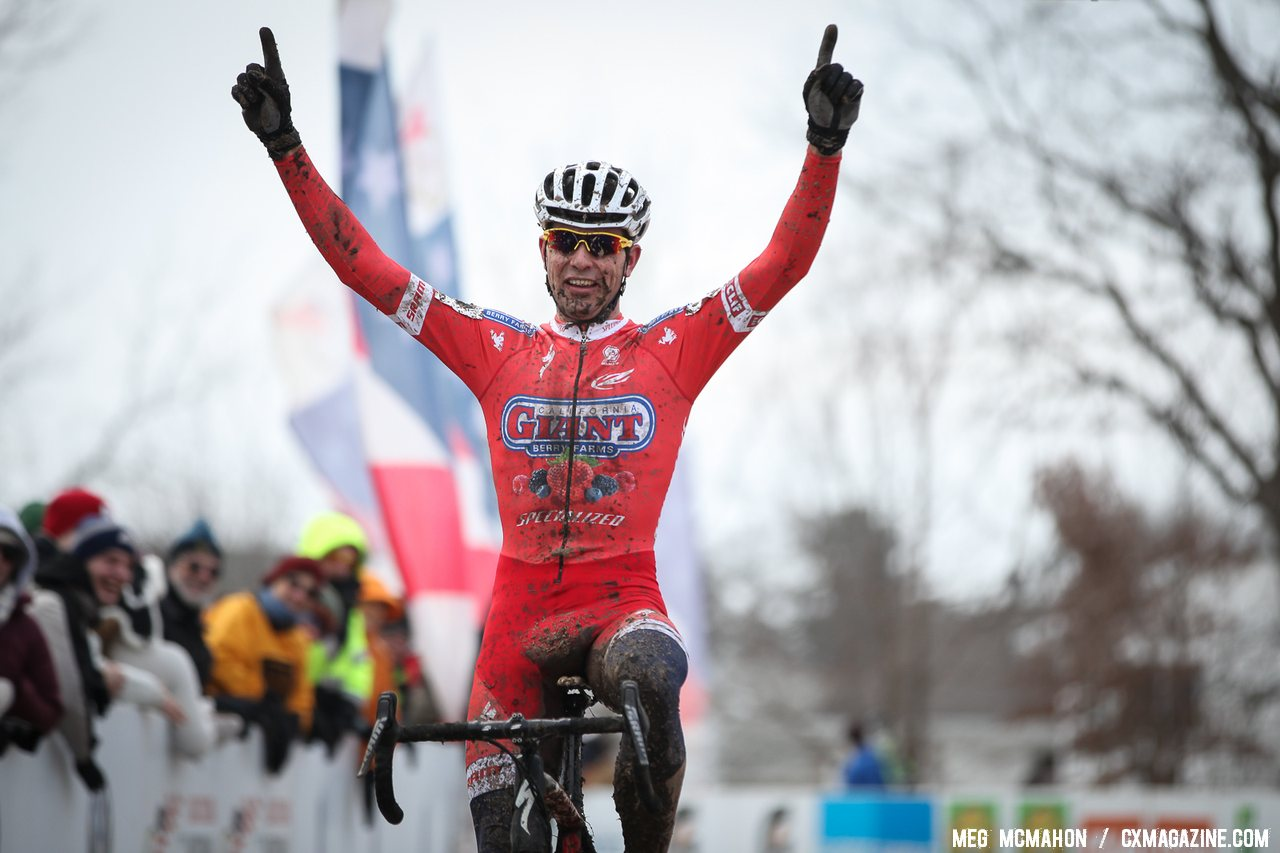 Eckmann with a commanding win in the U23 Men\'s race. 2013 National Championships. © Meg McMahon