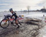 Kristin Weber flying the Boulder Cycle Sport colors. Masters Women 40-44, 2013 National Championships. © Cyclocross Magazine
