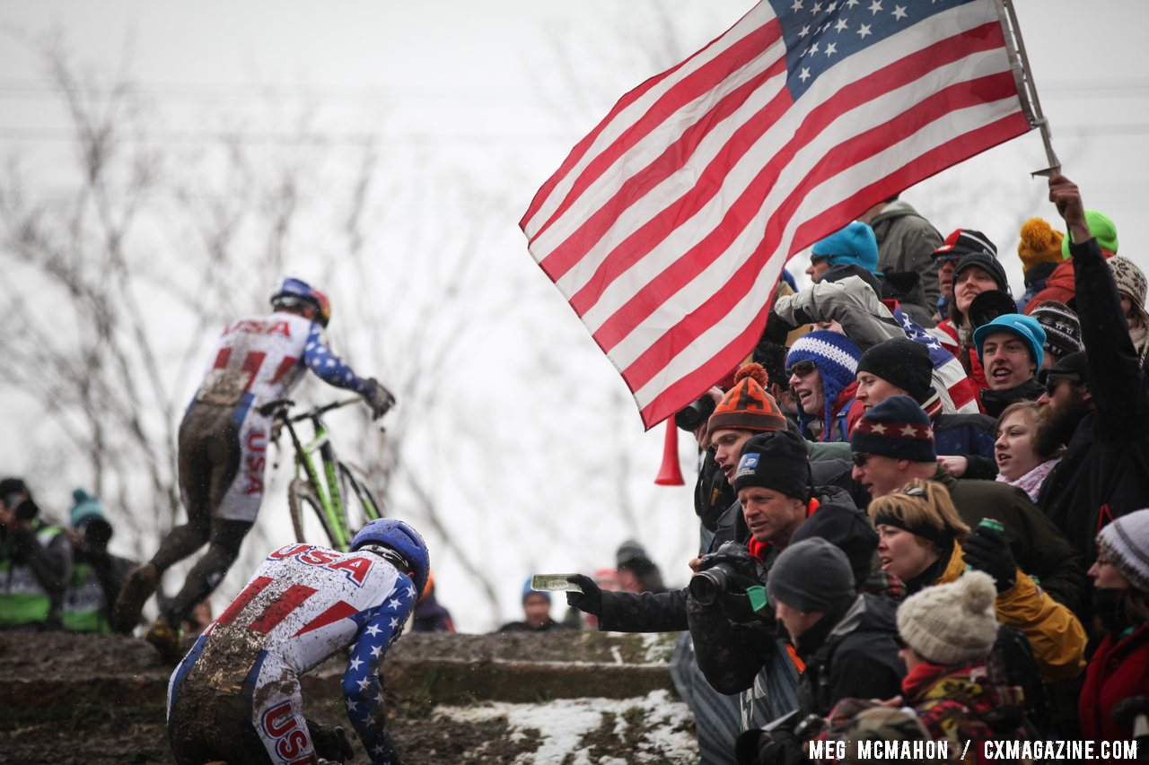 The US crowds came out to cheer their riders. © Meg McMahon