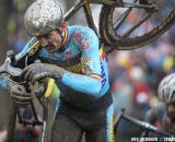 Bart Wellens, shown here at the 2013 Worlds, continued his impressive form with a win ahead of newly crowned World Champion Sven Nys © Meg McMahon