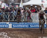 Andrew Dillman skips classes and hops barriers to a 25th place as a first-year U23. © Cyclocross Magazine