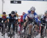 Despite his doctor's orders to stay at home and rest an injured shoulder, Tilford came to show his support for - and dominance of - Masters Worlds © Cyclocross Magazine