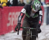 Gunnar Shogren had the worst luck, but perhaps the best race, overcoming a rolled tire to move into third © Cyclocross Magazine