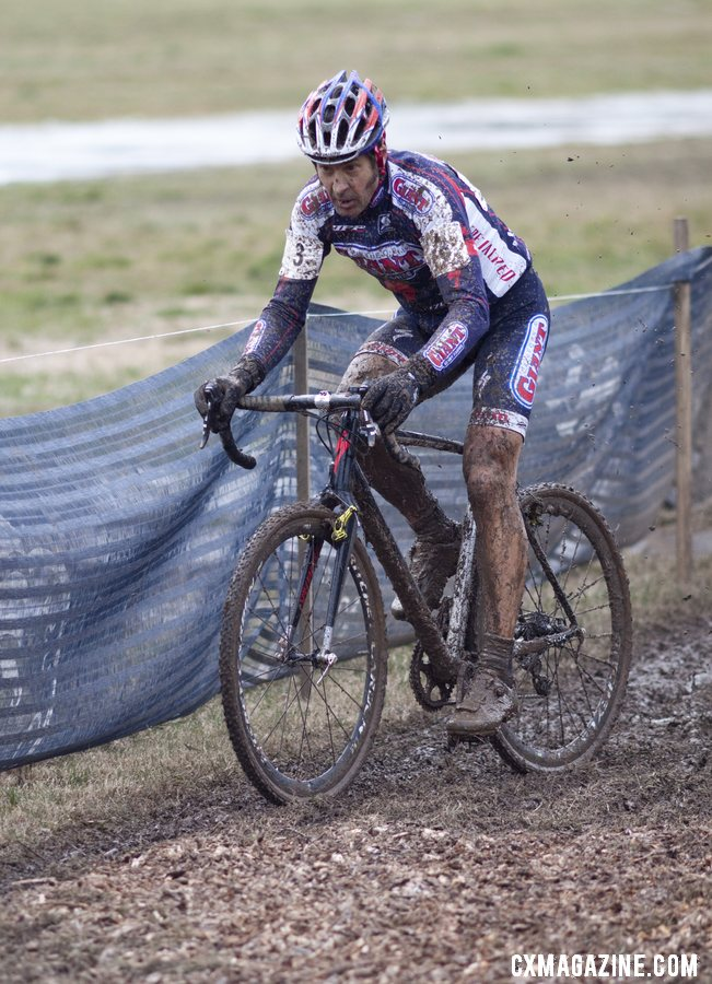 Henry Kramer of Cal Giant gets the big title that has eluded him for years. 2013 Cyclocross World Championships - Masters Men 55-59. © Cyclocross Magazine