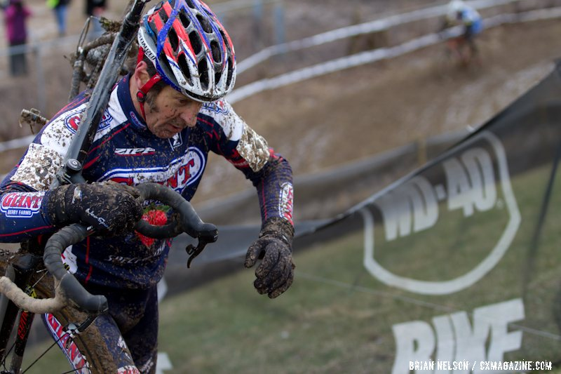 Henry Kramer (California Giant Berry Farms/Specialized) rode to the front early and held on for the win.  ©Brian Nelson