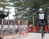 Milne wins the race and with it the Shimano NEPCX Series. © Meg McMahon