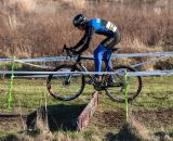 Joshua Johnson rides the barriers. © Kent Baumgardt