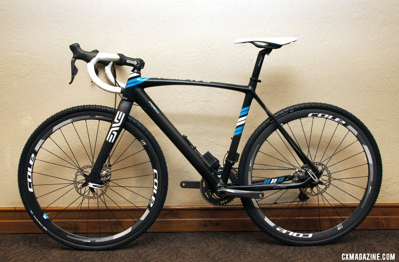 Raleigh 2013 RXC Pro Disc cyclocross bike will feature Avid BB7 brakes, Ultegra Di2 and carbon Cole wheels and will retail for $6000. © Cyclocross Magazine